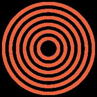 LLokaal_Patronen_Circles dik Oranje