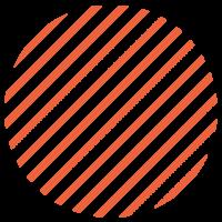 LLokaal_Patronen_Stripes dik Oranje